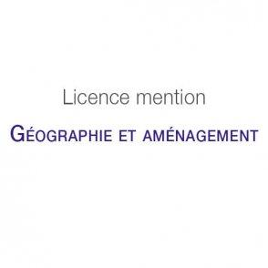 Licence mention Géographie et aménagement