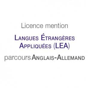 Licence mention Langues étrangères appliquées (LEA) parcours type Anglais-Allemand