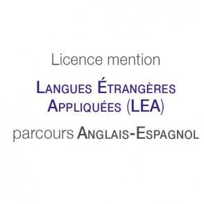 Licence mention Langues étrangères appliquées (LEA) parcours type Anglais-Espagnol