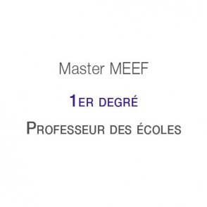 """Master MEEF """"Premier degré"""""""