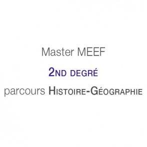 Master MEEF &#8220;Second degré&#8221; <br />parcours Histoire-Géographie