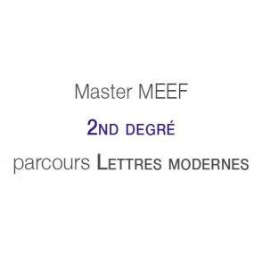 Master MEEF &laquo;&nbsp;Second degré&nbsp;&raquo; <br />parcours Lettres modernes