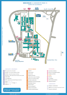 Plan campus Villetaneuse