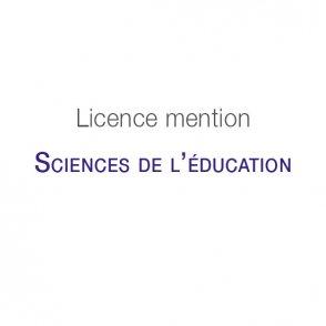 Licence mention Sciences de l'éducation